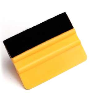 Felt Edge Wrapped Orange Squeegee