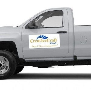 Specialty Vinyl-vehicle with magnetic sheeting