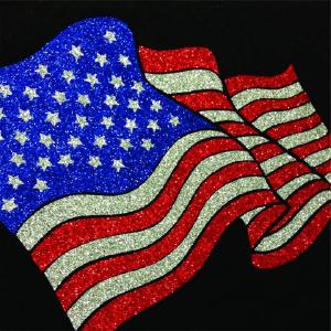 Glitterflex ultra/american flag