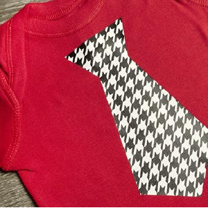 Patterned HTV/red t-shirt with patterned htv